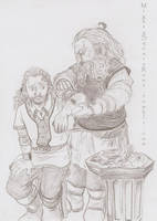 Gimli and uncle Oin sketch by Isis-90