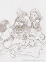 Fili, Kili and uncle Thorin by Isis-90