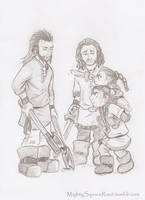 Dis and Frerin are brave warriors too sketch by Isis-90