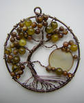 Twisted Green Tree of Life with Moon *SOLD*