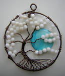 Twisted White Tree of Life with Moon *SOLD*