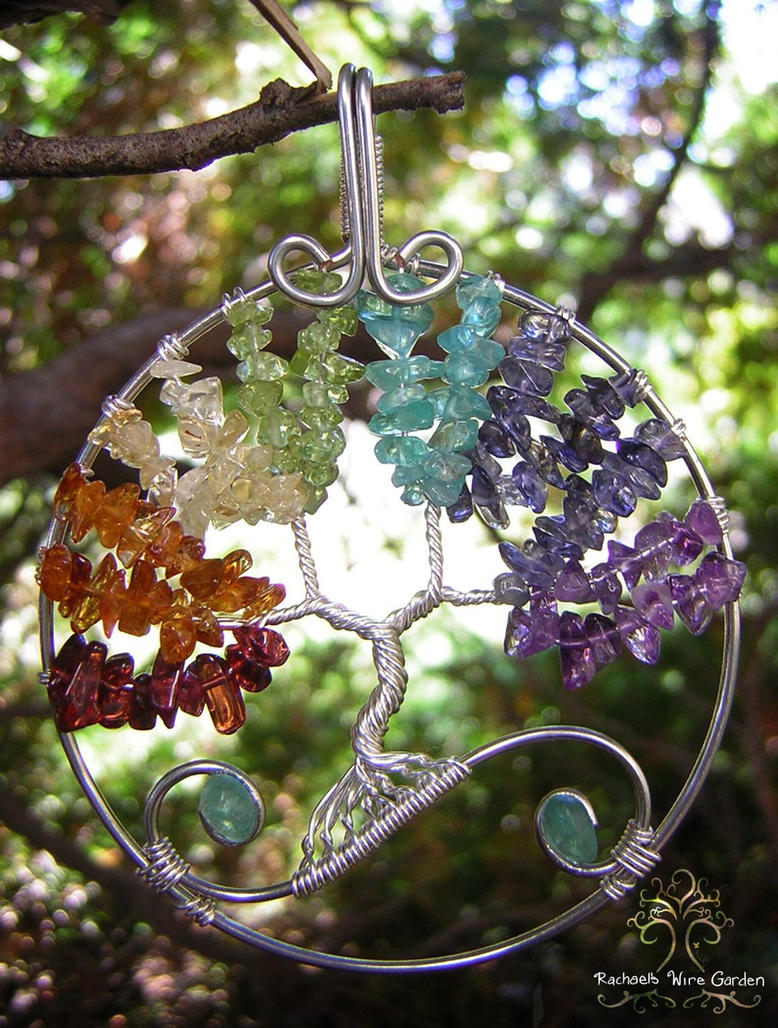 Chakra sold by rachaelswiregarden on deviantart for How to make a wire tree of life sculpture