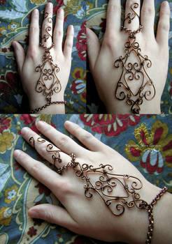 Wire Wrapped Henna Slave Bracelet
