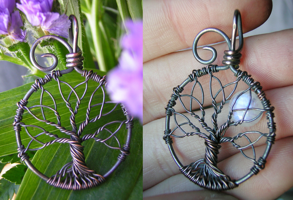 Celtic Tree of Life (Version Two) by RachaelsWireGarden