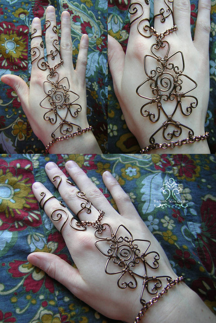 876727606881a Bronze Wire Wrapped Henna Slave Bracelet 2 by RachaelsWireGarden on ...