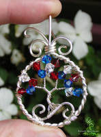 Red, White, and Blue *SOLD* by RachaelsWireGarden