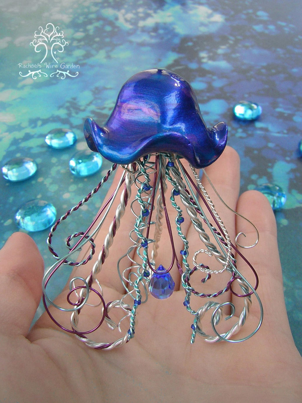 Pet Jellyfish by RachaelsWireGarden