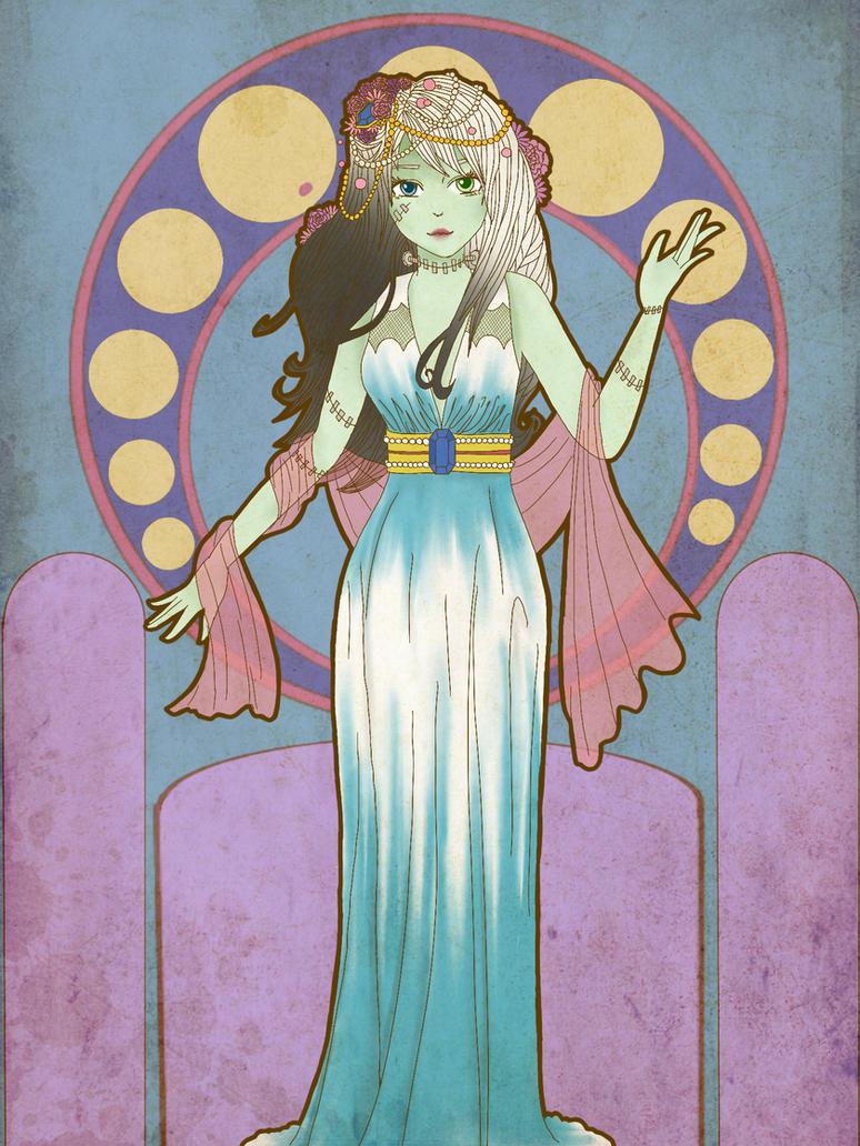 Frankie Stein MH Art Nouveau by lady-yuna-chi