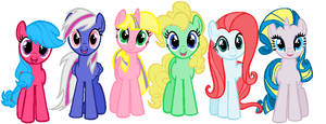MLP mane 6 recolor adopts-4+5 OPEN-