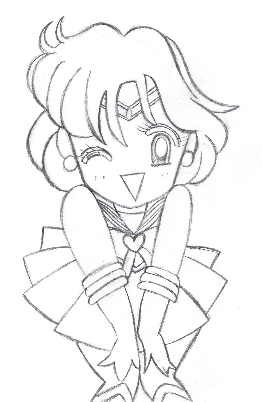 sailor mercury coloring pages sketch coloring page