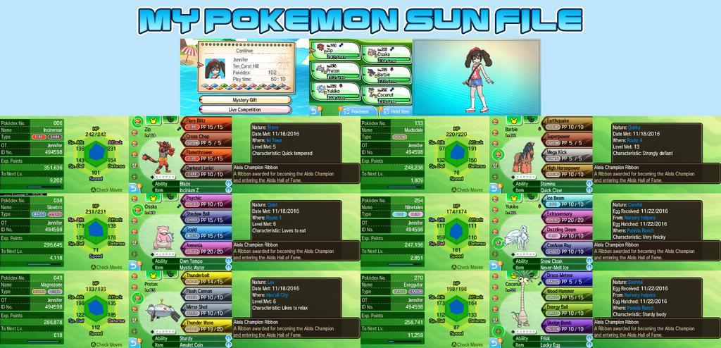 My Pokemon Sun File by YukiMizuno