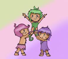 The Peach Triplets by Fawnan