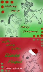 Holiday Card Project! by Fawnan