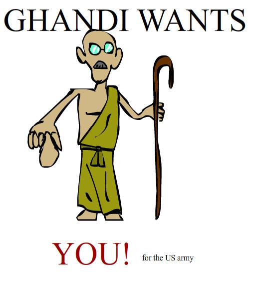 Gandhi by sakuramustDIE