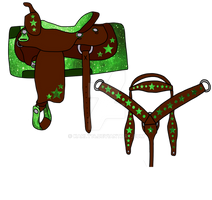 Tack Set Green Galaxy (Open) Reduced
