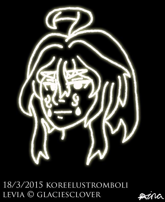 Neon Line Art: Levia by KoreeluStromboli