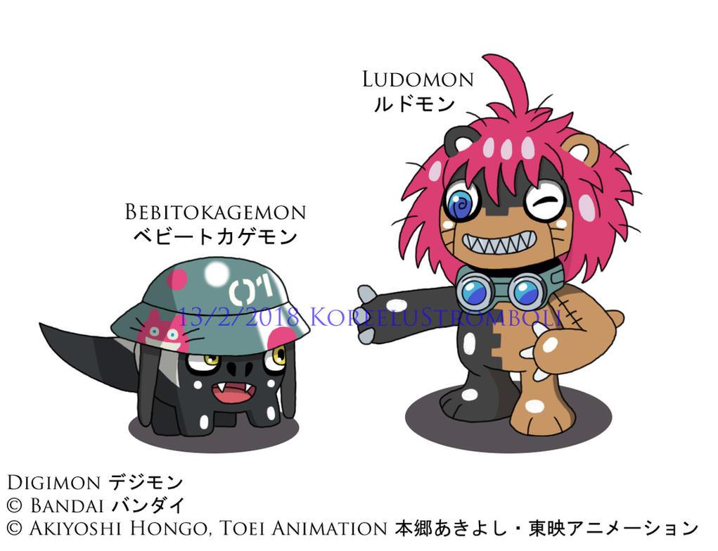 Bebitokagemon and Ludomon by KoreeluStromboli