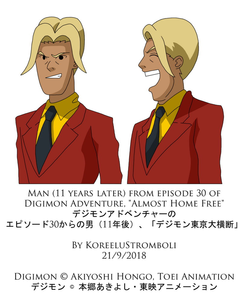 Man from Episode 30 of Digimon Adventure by KoreeluStromboli