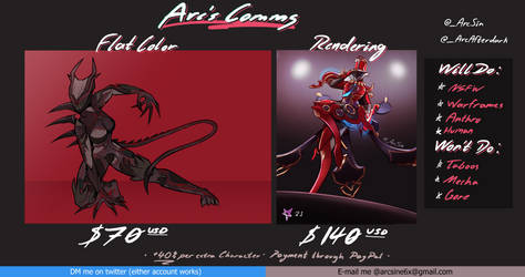 Updated Commission Sheet 06/2021