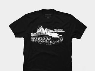 tank panther T-shirt by dimadiz