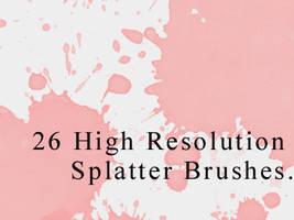 26 High Res. Splatter Brushes. by gfxgurl
