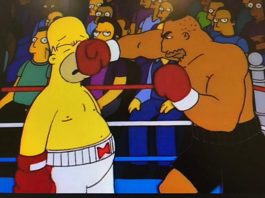 Image result for homer boxing