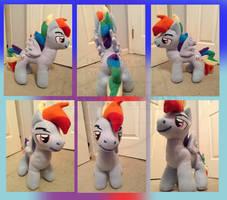 Rainbow Blitz Plush by CobaltArson