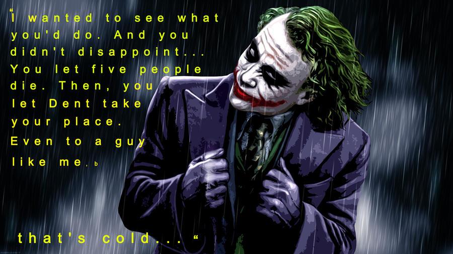 The Dark Knight Quotes: THE JOKER : WHO HAS THE GOAT WORDPLAY