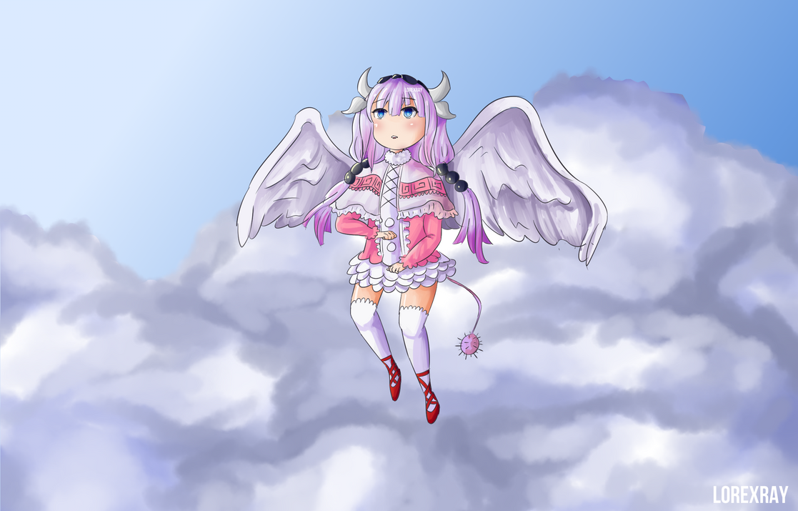 Kanna in the Clouds by lorexray