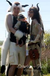 Sky Bison Family by Czarina-Wolf