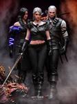 Yen, Ciri and Geralt. by EzioMaverick