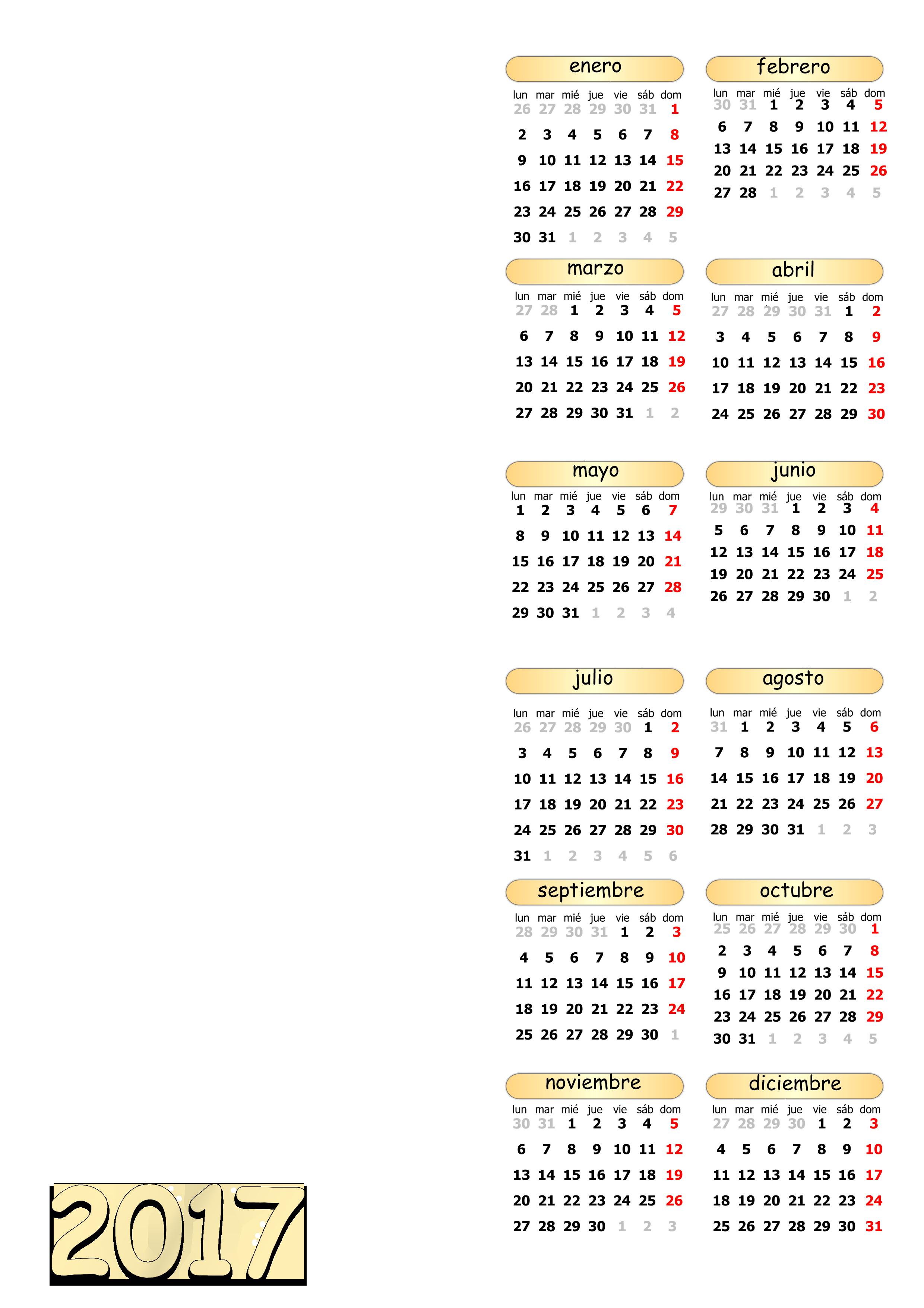 Calendarios 2017 - Plantillas PSD-PNG by AkatsukiKarasu on DeviantArt