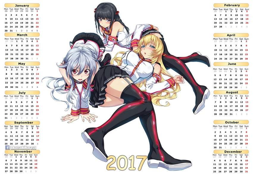 2017 Anime Calendar Ecchi 08 (Eng-Spa) By AkatsukiKarasu