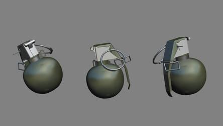 m67 Grenade Highpoly by MirceaPrunaru