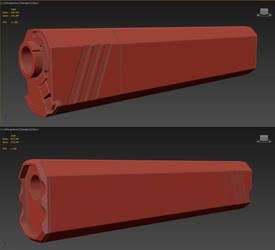 Osprey Sillencer 3D model by MirceaPrunaru