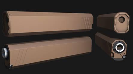 Osprey Sillencer 3D model Final Render by MirceaPrunaru