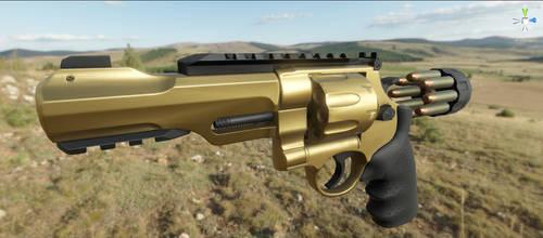 .357 RS Revolver Unity5 Render by MirceaPrunaru