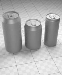 Drink Can's 3d model HighPoly by MirceaPrunaru