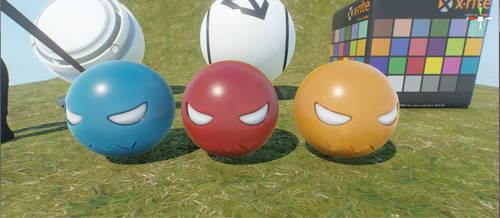 RPG Game project LVL 0 Monsters(Balloons) by MirceaPrunaru