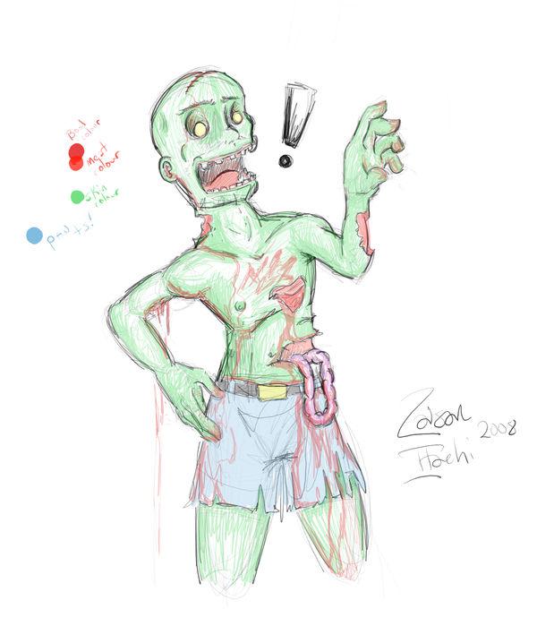 Wtf Zombie Colour By Zaisan On Deviantart
