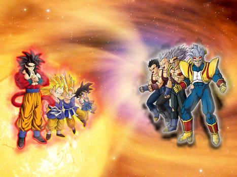 Goku GT vs Baby Vegeta