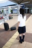 Japanese school girl by katebusby
