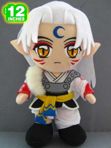 12' Sesshomaru Plush from ebay by icegirljenni