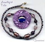 Amethyst Tide-Dolphin Necklace