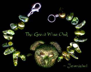 The Great Wise Owl Bracelet by jemnisimi