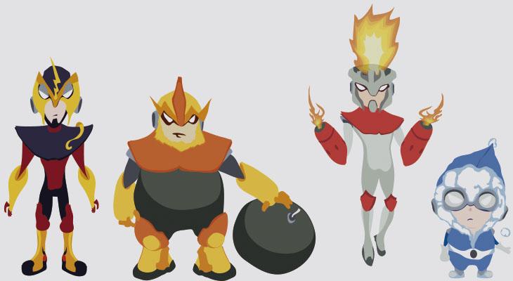 Megaman bad guys by OffGabo