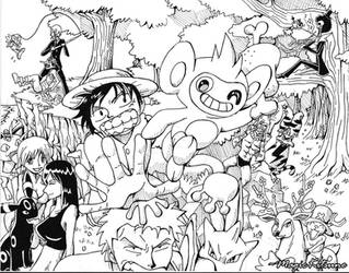 One Piece and Pokemon -WIP- by MagicKitsune