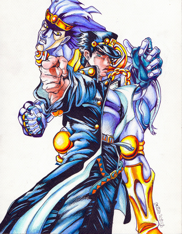 Jotaro and Star Platinum by MagicKitsune