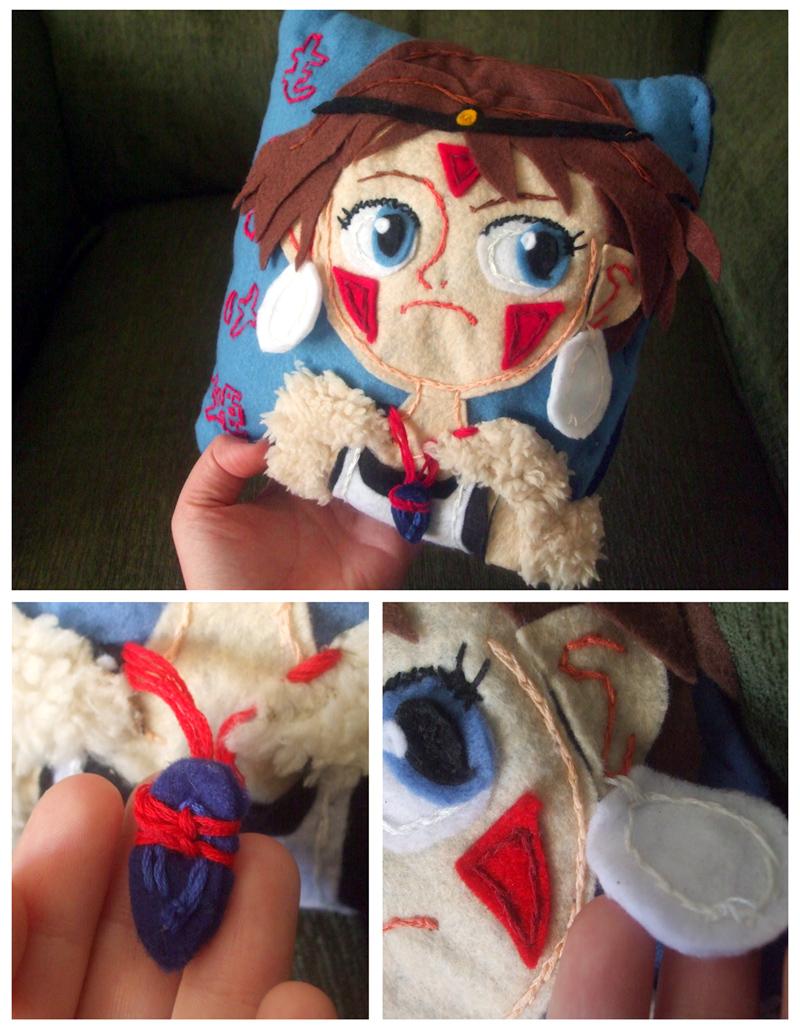 Princess Mononoke Pillow by curry23