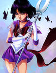 Sailor Saturn and the Butterflies
